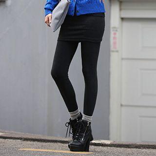 Inset Mini Skirt Leggings