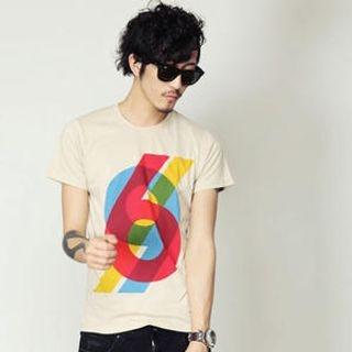 Buy SLOWBABA Short-Sleeve Printed T-Shirt 1022930534