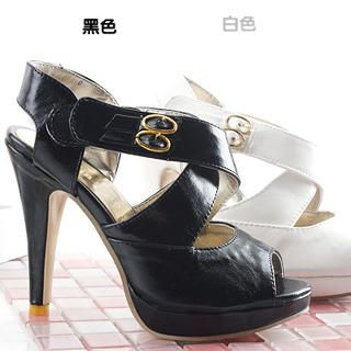 Buy KAWO Cross-Strap High-Heel Sandals 1022760856