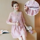 Maternity Short-Sleeve Lace Dress 1596