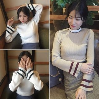 Striped Ribbed Sweater 1054825011