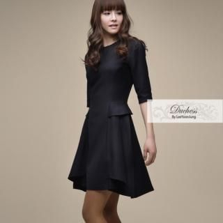Picture of Duchess Peplum Waist Wool Dress 1021217299 (Duchess Dresses, Womens Dresses, South Korea Dresses, Wool Dresses)