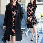 Set: Open Front Coat + Long-Sleeve Chiffon A-Line Mini Dress 1596