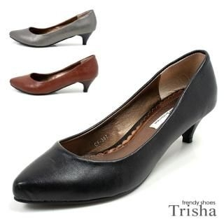 Buy Trisha Faux Leather Pointy Pumps – Heels 5cm 1021145305