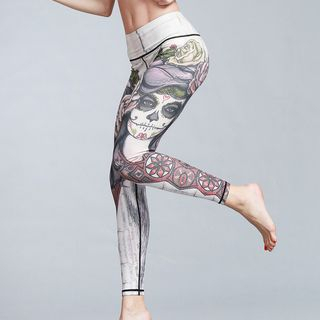 Printed Yoga Pants 1059376956