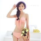 Set: Fringed Bikini + Floral Cover-Up Dress 1596
