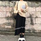 Striped Midi Knit Skirt 1596