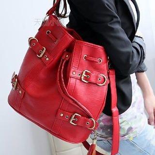 Buy SkyBlue Buckled Drawstring Shoulder Bag 1022906450