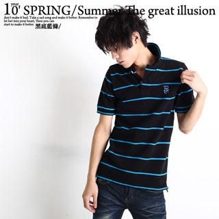 Picture of SERUSH Striped Polo Shirt 1022952819 (SERUSH, Mens Tees, Taiwan)