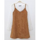 Set: Long-Sleeve T-Shirt + Jumper Dress 1596