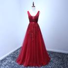 Sleeveless Crochet Evening Gown 1596