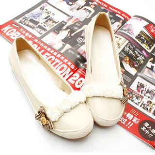 Buy KAWO Lace & Bow Flats 1022772153
