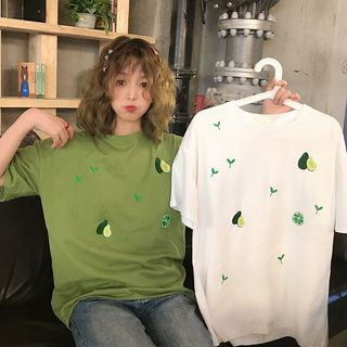 Image of Avocado Printed Short-Sleeve T-Shirt
