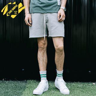 Drawstring Cotton Shorts 1059784008