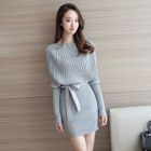 Tie-Waist Knit Dress 1596