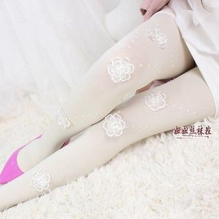 Floral | Tight | White | Lace | Size | One