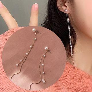 Faux Pearl Drop Earring