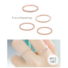 Set of 4: Slim Ring 1596
