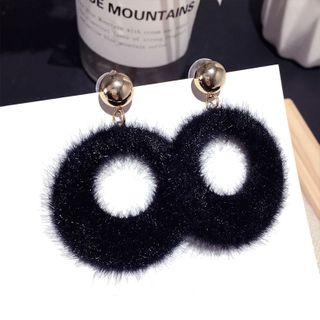Earring   Black   Hoop   Size   One
