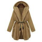 Tie-Waist Fleece Hood Coat от YesStyle.com INT