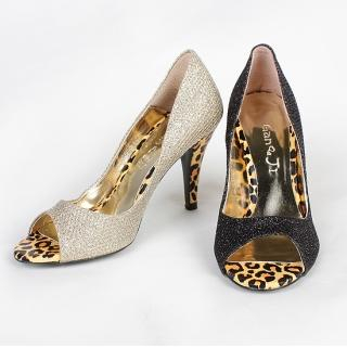 Picture of NamuDDalgi Glitter Peep Toe Pumps 1022415590 (Pump Shoes, NamuDDalgi Shoes, Korea Shoes, Womens Shoes, Womens Pump Shoes)