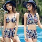 Set: Printed Bikini + Swim Top 1596