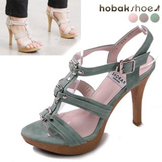 Buy HOBAK girls Platform T-Strap Sandals 1022811086