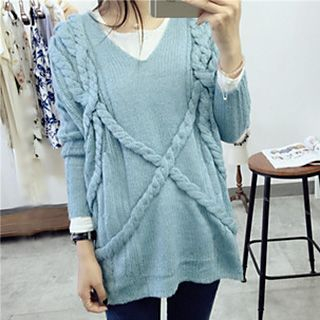 Ribbed V-Neck Sweater 1046489696