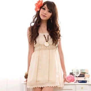 Buy I'Miusa Lace-Trim Sundress 1022744457