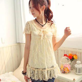 Buy Tokyo Fashion Bow-Neck Lace Tunic 1022744657