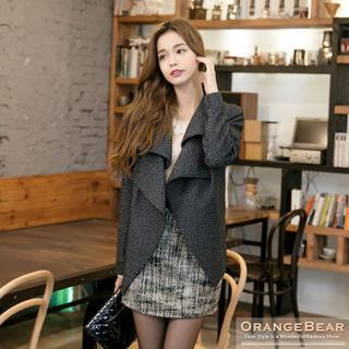 Melang Double Collar Jacket