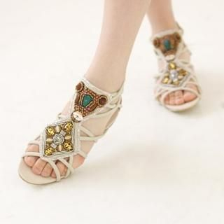 Buy Youareagirl Beaded Sandals 1022894025