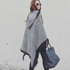 Hooded Patterned Cape 1596