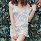 Set: Floral Bikini + Lace Cover 1596