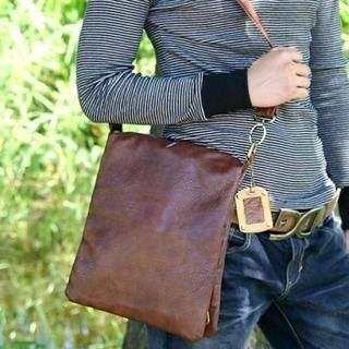 Picture of ISNOM Faux Leather Shoulder Bag 1021960494 (ISNOM, Shoulder Bags, Korea Bags, Mens Bags, Mens Shoulder Bags)