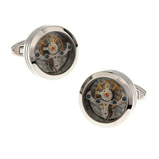 Faux Mechanical Cuff Links As Shown In Figure - One Size