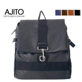 Picture of AJITO Faux-Leather Backpack 1022282913 (AJITO, Backpacks, Korea Bags, Mens Bags, Mens Backpacks)