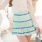 Check Ruffle Hem Skirt 1596