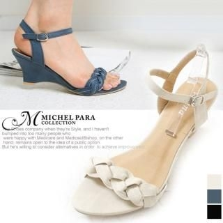 Picture of MICHEL PARA COLLECTION Ankle Strap Wedge Sandals 1022578247 (Sandals, MICHEL PARA COLLECTION Shoes, Korea Shoes, Womens Shoes, Womens Sandals)