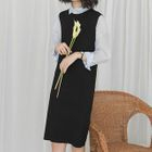 Open Back Knitted Pinafore Dress 1596