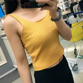 Ribbed Knit Tank Top 1050026876