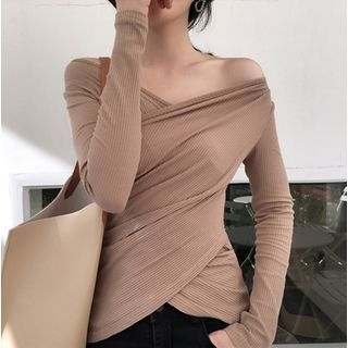 Long-Sleeve Ribbed V-Neck T-Shirt 1064696002