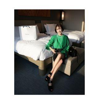 Slit-Sleeve Knit Top 1057394734