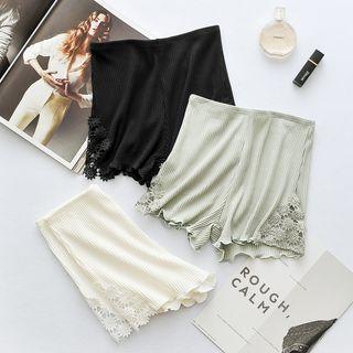 Image of Lace Panel Under Shorts