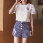 Set: Short Sleeve T-Shirt + Striped Shorts 1596