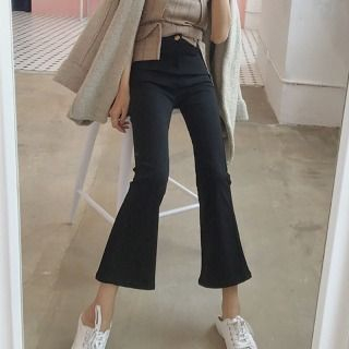 Cropped Boot-Cut Pants 1062883155