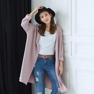 Ribbed Long Cardigan 1053831207