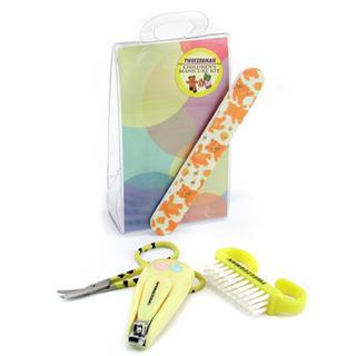 Buy Tweezerman – Children's Care Kit: Baby Nail Clipper+ Baby Nail File+ Nail Brush+ Baby Nail Scissors 4pcs