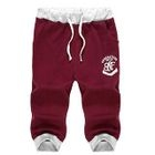 Lettering Cropped Sweatpants 1596
