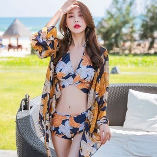 Set: Printed Bikini + Beach Cover-Up 1064561113